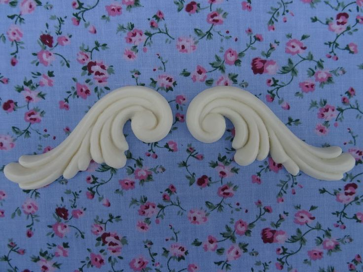 CHIC GEORGIAN SCROLLS X2 DECORATIVE RESIN FURNITURE MOULDINGS APPLIQUES code gs2