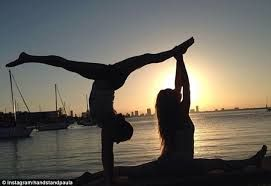 image result for yoga poses for two people  yoga