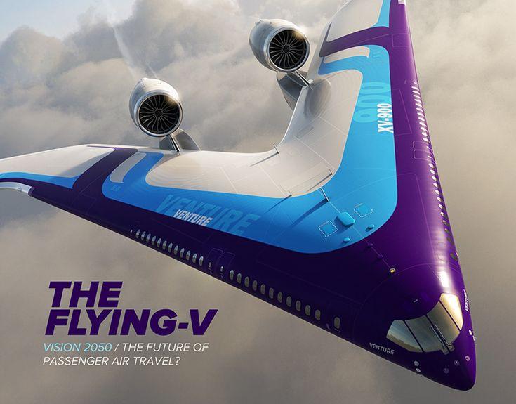 Flying V Passenger Aircraft Concept Behance 3d