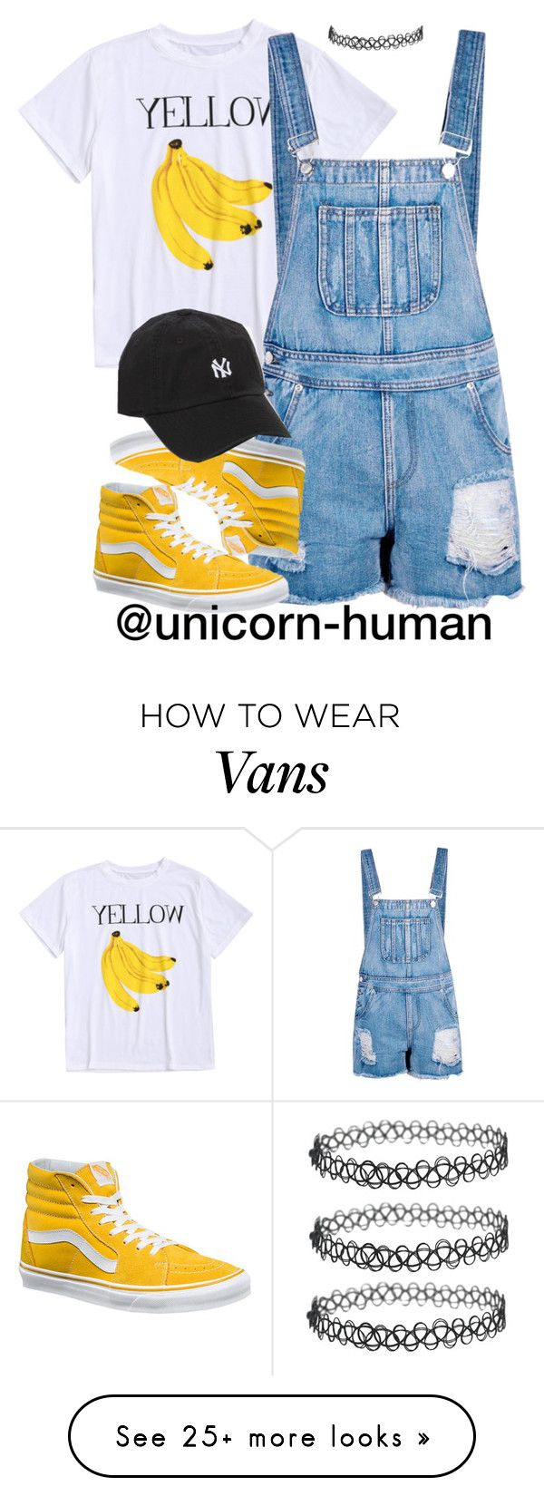 """""""Untitled #2958"""" by unicorn-human on Polyvore featuring Boohoo, Vans and American Needle"""