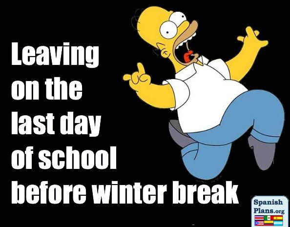 Leaving Last Day of School Before Winter Break