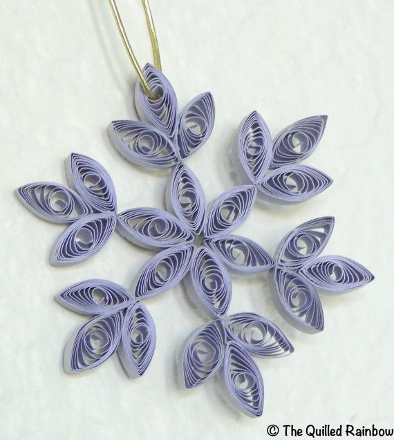Quilled Snowflake Christmas Ornament in Gray by ... | Quilling