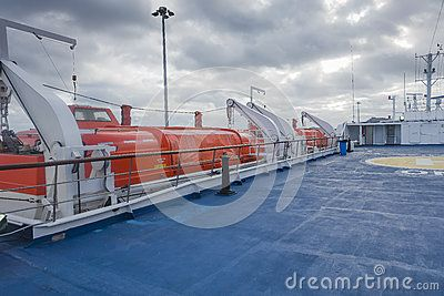 Helipad on the ferry boat in harbour in Porto Santo Island , Near the Madeira Island , Portugal. Europe.