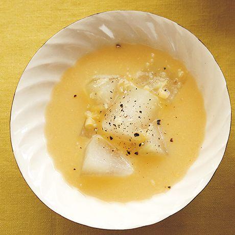 とうがんのとうもろこしスープ   外処佳絵さんのスープの料理レシピ   プロの簡単料理レシピはレタスクラブネット