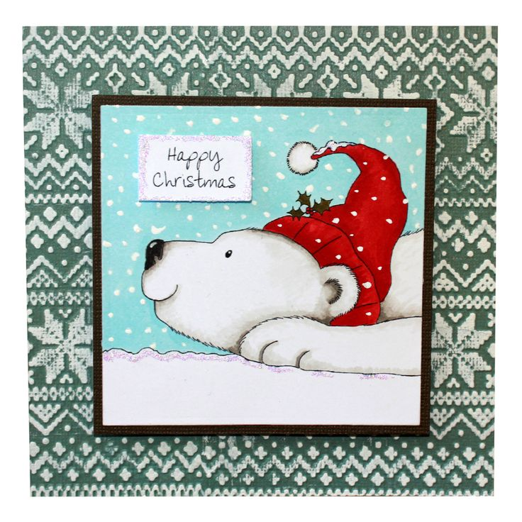 This is the gorgeous new Peter the Polar Bear set designed from Hobby Art. Clear set contains 5 stamps. Overall size of set - 74mm x 105mm approx. All our clear stamps are made with photopolymer resin.