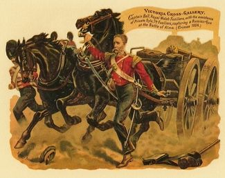 Capt Edwin Derringer Bell winning his VC at the Battle of The Alma.