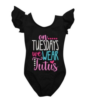 On Tuesdays We Wear Tutus Leotard by CocosPersonalDesigns on Etsy