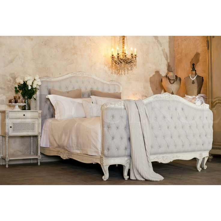 Elegant The KING SOPHIA TUFTED Bed Is An Antique Reproduction Sophia Bed In Louis  XV Corbeille Style. Beautifully Hand Finished In Old Cream And Tufted In A  Fog ...