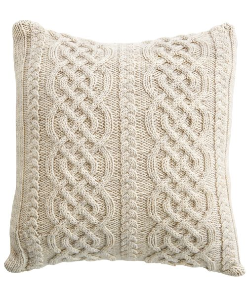 knit pillows | How to knit an Aran pillow with a Celtic design - Canadian Living