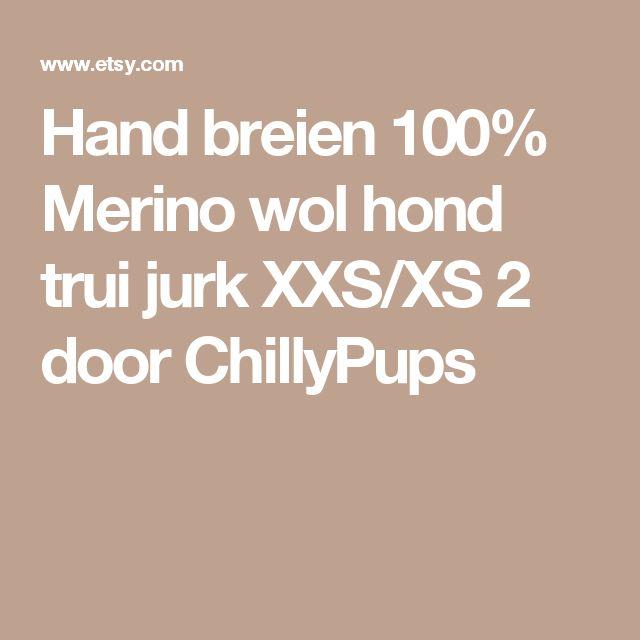 Hand breien 100% Merino wol hond trui jurk XXS/XS 2 door ChillyPups