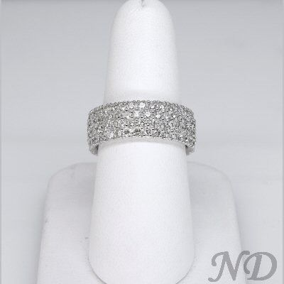 Wide, micro pave wedding band...only one I've found that i like/matches my engagement ring.