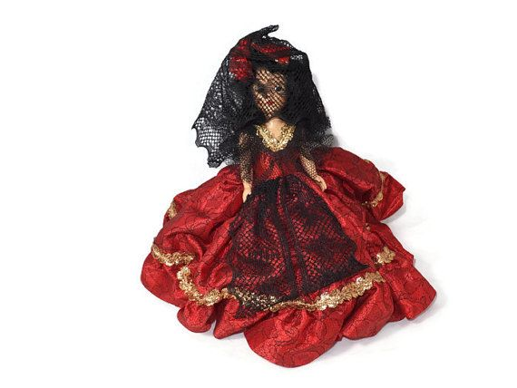 ✯‡ #Vintage Spanish Doll - 1950s 1960s Collectible Toy, Sleepy Eyes, Movable Arms and http://etsy.me/2cioxLx