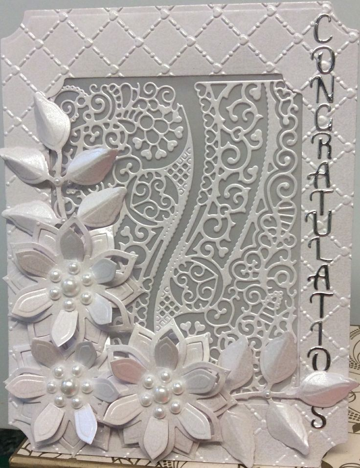 Wedding Card ( Tattered Lace & Spellbinders )