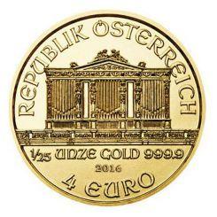 """Αποκτήστε το πρώτο ΧΡΥΣΟ νόμισμα Vienna Philharmonic (""""Φιλαρμονική της Βιέννης"""") 1/25 ΟΖ που εκδόθηκε από το Αυστριακό Νομισματοκοπείο, το οποίο φημίζεται για την ποιότητα και την αισθητική της κοπής των νομισμάτων του. Στην κοπή του οδήγησε η μεγάλη επιτυχία του ομώνυμου αργυρού νομίσματος από το 2008. Είναι κατασκευασμένο από 99,9 % καθαρό Χρυσό και ξεχωρίζει χάρη στον περίτεχνο διάκοσμο του, που είναι πανομοιότυπος με αυτόν του Αργυρού νομίσματος Vienna Philharmonic."""
