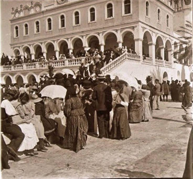 PRAYING IN TINOS ISLAND - GREECE - SUMMER 1912!!!Προσκύνημα στην Τήνο-1912