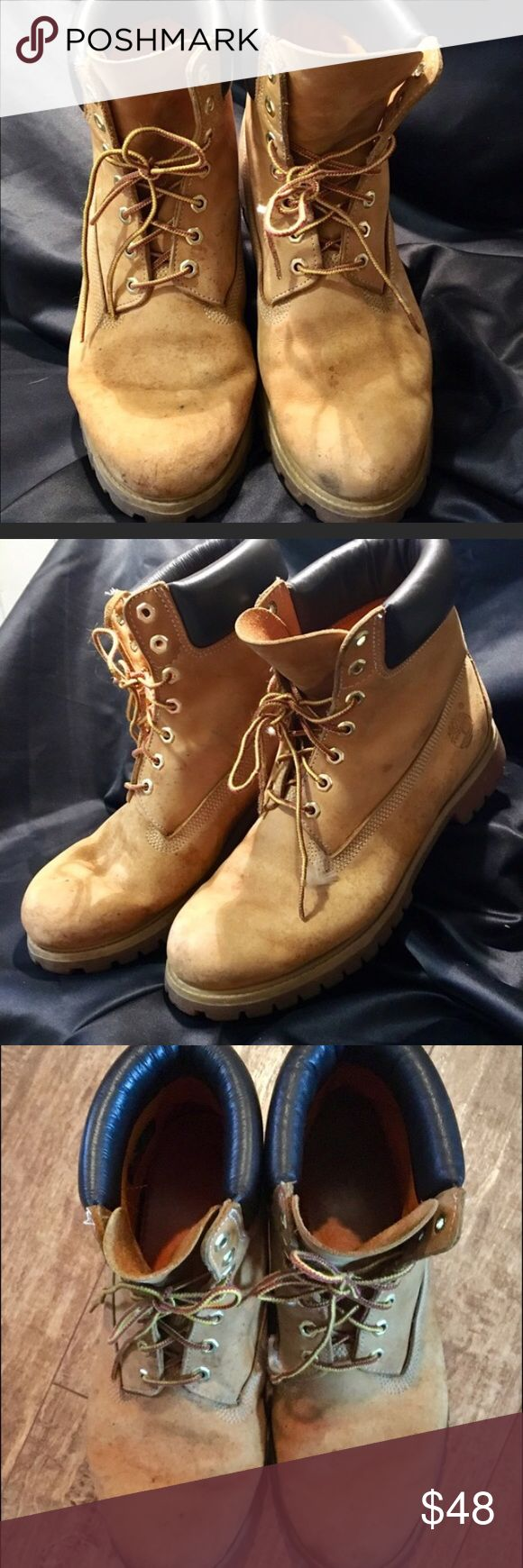 "Timberland Classic 6"" Prm Size 11.5 Wheat Nubuck. Classic leather nubuck wheat 6"" waterproof Timberland boots. Some scuffs but still in great condition.  Size 11.5 men's Timberland Shoes Boots"