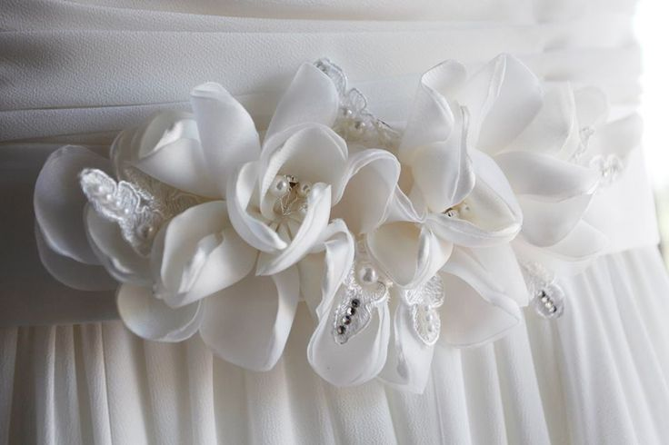 Beautiful floral sash, available from Hobnob Bridal, Perth
