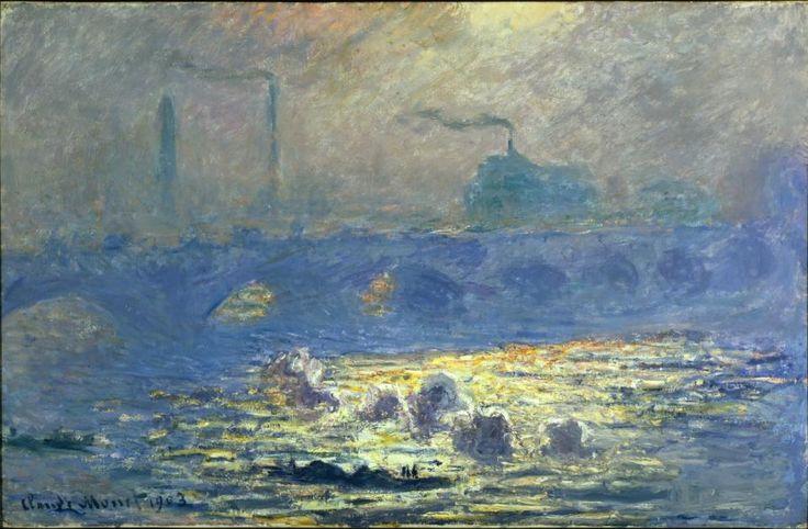 European & American Art | Denver Art Museum | Claude Monet. French, 1840-1926, Waterloo Bridge, 1903. Oil paint on canvas. Funds from Helen Dill bequest, 1935.15