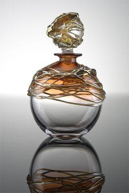 Title: Golden Trail Scent Bottle Description: Blown Glass Artist: Allister Malcolm
