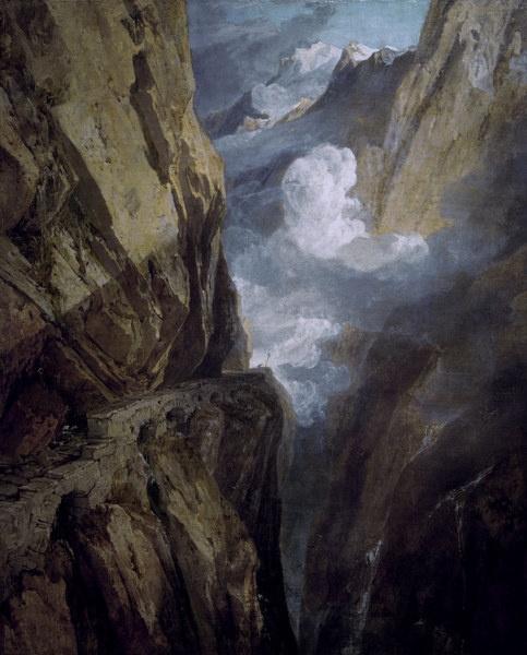 Joseph Mallord William Turner - Der St. Gotthard-Pass (56,0 x 70,0 cm)