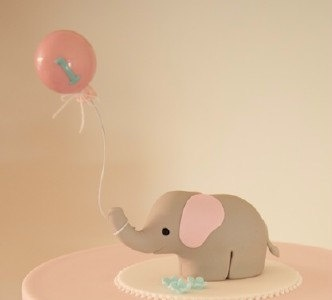 Custom Elephant 1st Birthday Cake Topper Reserved by SpiritMama, $46.00