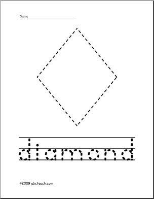 diamond trace summer worksheets pinterest. Black Bedroom Furniture Sets. Home Design Ideas