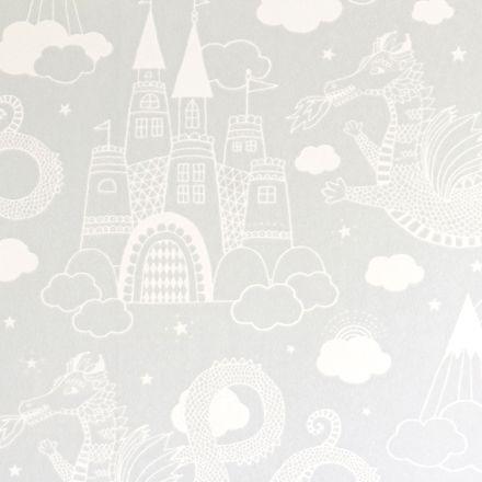Majvillan Tapet Drakhimlen Grå
