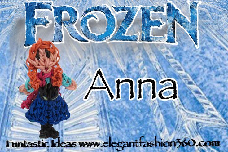 Rainbow Loom Frozen Princess Anna Figure/Charm by ElegantFashion360.com