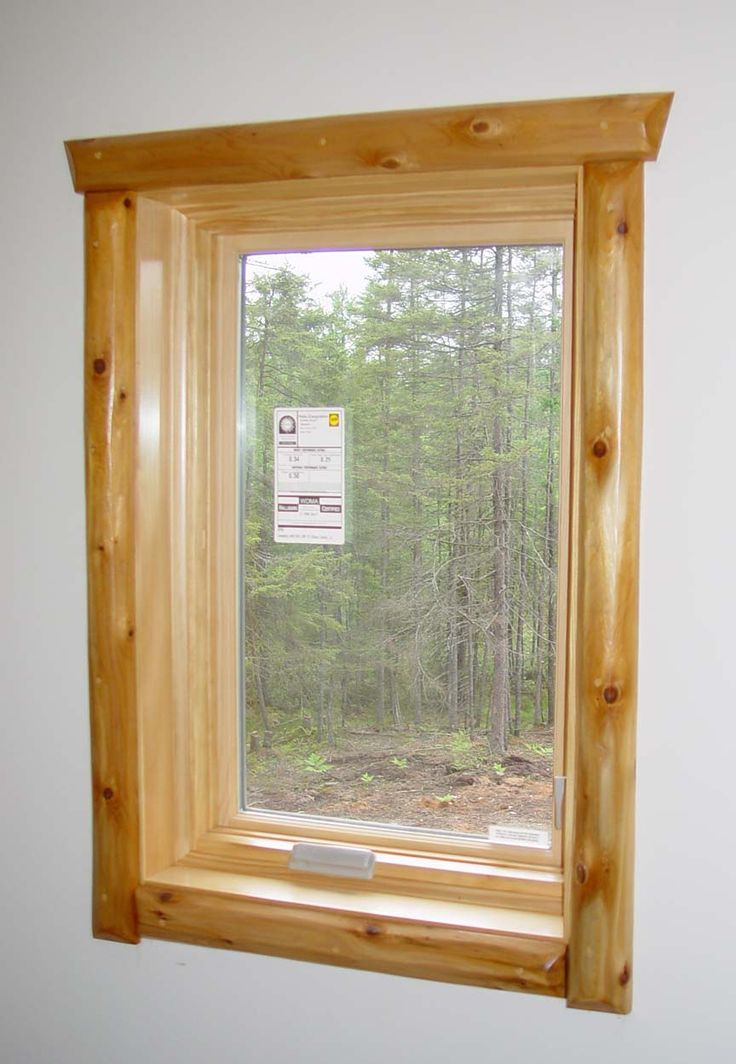 1000 images about rustic trim for windows and doors on for Log cabin window trim