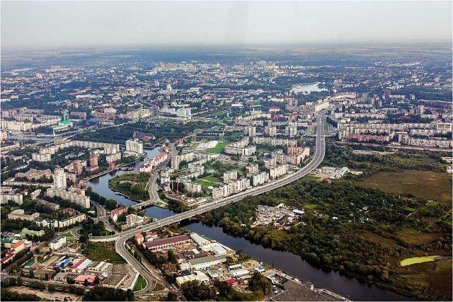 Калининград. Аэрофотосъёмка 13 сентября 2014 года.