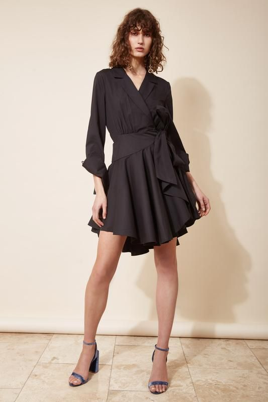 LAST LIGHT LONG SLEEVE DRESS black