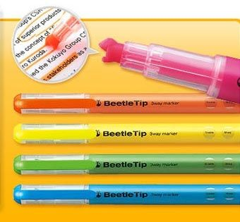 These are the coolest highlighters! Beetle Tip Highlighters