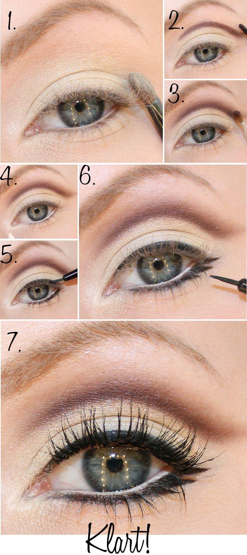 large eyes a la 60's step by step
