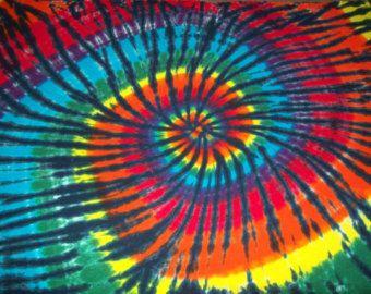 Tie Dye Blanket, 66 x 84, cravate double coton teindre literie, attache-fil colorant, colorant de cravate lève couverture, tigre de l'arc-en-ciel