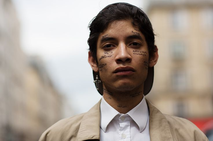Most delicate face tattoo I've ever seen.     On the Street…..rue de Turenne, Paris « The Sartorialist