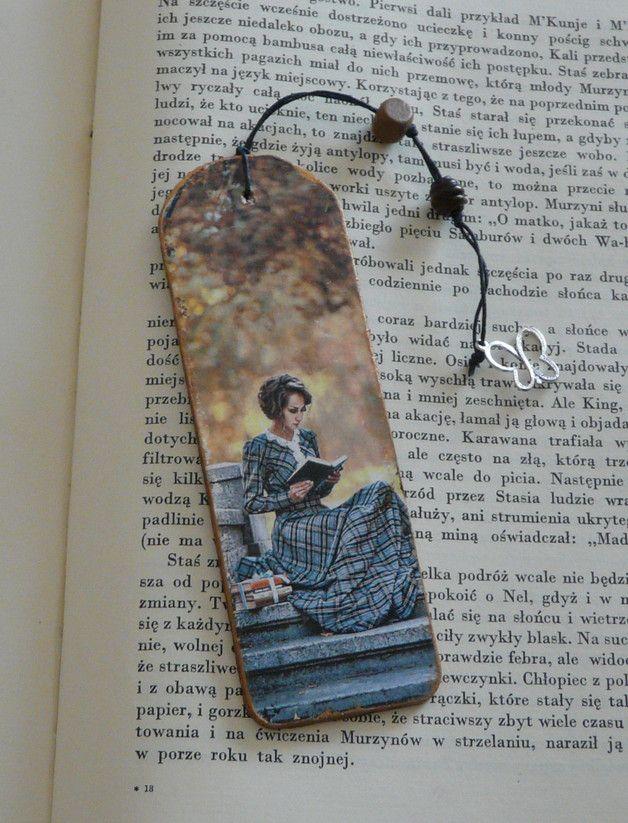 Jesienna zakładka - EskiFloreski - Zakładki do książek z drewna