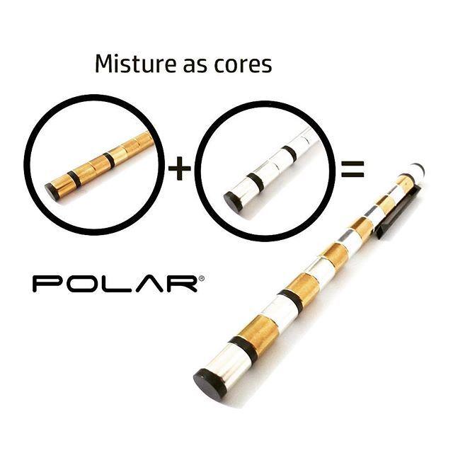 POLAR Pen é a primeira caneta modular do mundo feita a partir de ímãs. Composta por 13 potentes ímãs de neodímio, formam um tubo em volta do cartucho de tinta. Esta atraente caneta esferográfica com tinta preta ainda apresenta uma ponta stylus para os momentos em que você precisa desenvolver o seu trabalho em qualquer dispositivo touch screen. Descubra maneiras diferentes e criativas de usar a Polar Pen, uma caneta magnética sofisticada que pode ser transformada em infinitas possibilidades.