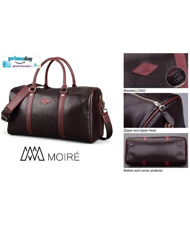 28032283b8 Forlenza Weekend Genuine Leather Luxury Mens Travel Duffel Bag Fits ...