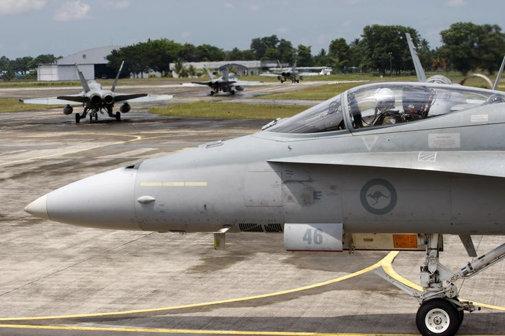 RAAF FA-18As prepare to launch for the mission out of Kauntan AFB during Bersama Shield 2010.