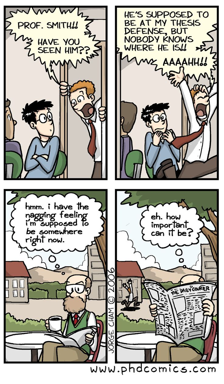 Check out the comic Best of PHD Comics :: Have you seen ...