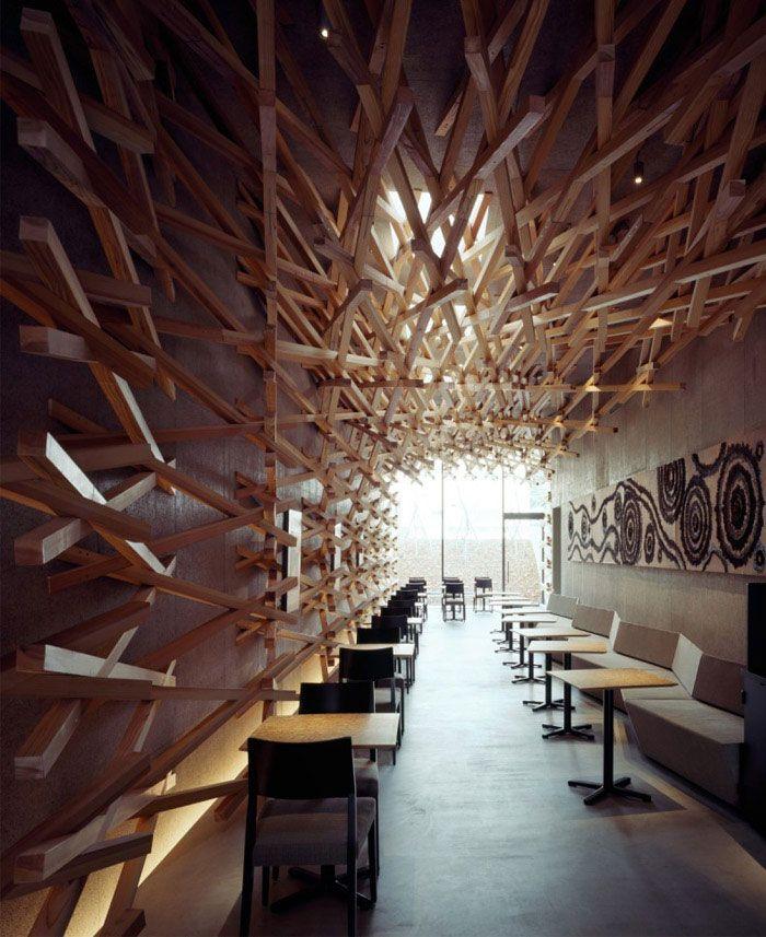 Cave Like Space For Starbucks Starbucks Coffee Interior Decor