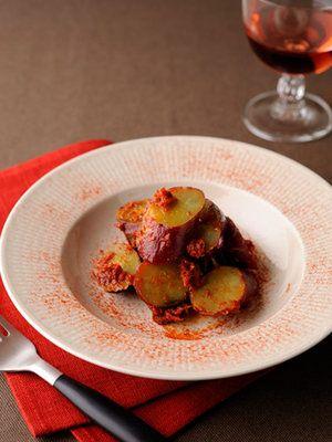 【ELLE a table】鳴門金時のドライトマトペースト和えレシピ|エル・オンライン