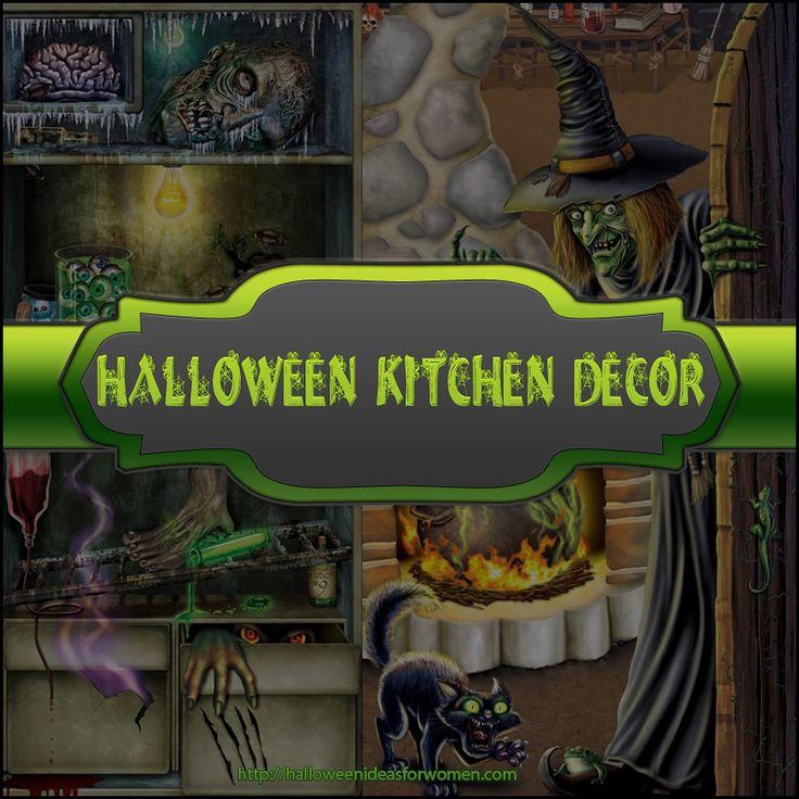 Halloween Kitchen Decor  http://halloweenideasforwomen.com/halloween-kitchen-decor/