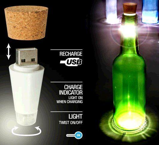 bouteille verre illuminé - Recherche Google