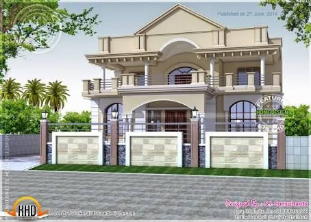 Image result for indian house design front view harish - Indian home exterior design photos ...