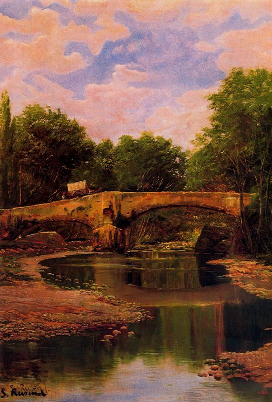 Puente sobre un río. 1884