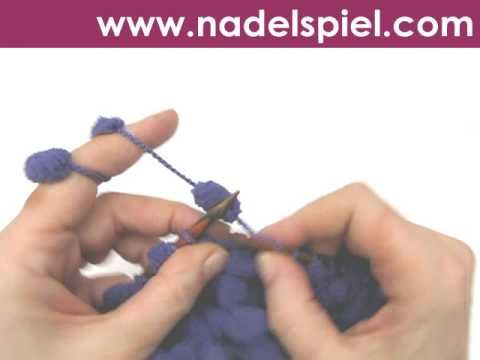Stricken lernen * Pomponwolle * Maschenanschlag * Gitter stricken * Abketten - YouTube
