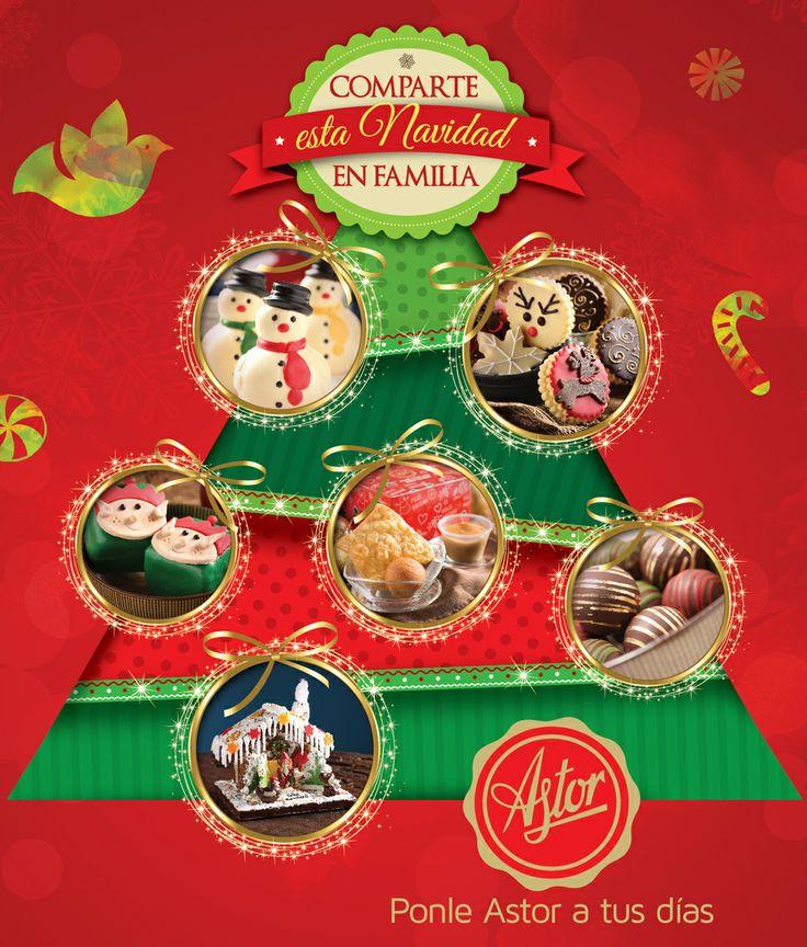 Comparte esta navidad en familia...  Comparte el mejor regalo que puedas encontrar en tu árbol de navidad y vive deliciosos momentos junto a las personas que quieres  Regala #repsoteriaastor , Regala amor  www.elastor.com.co