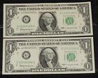 CONSECUTIVE 1963 $1 FEDERAL RESERVE NOTES G12146165C - 66C 1963 ONE DOLLAR NOTES - http://coins.goshoppins.com/us-paper-money/consecutive-1963-1-federal-reserve-notes-g12146165c-66c-1963-one-dollar-notes/