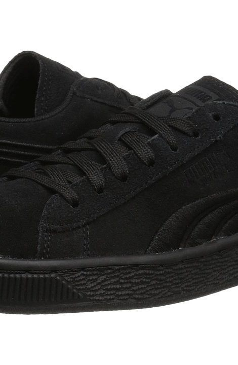 Puma Kids Suede Classic Badge Jr (Big Kid) (Puma Black/Puma Black) Kids Shoes - Puma Kids, Suede Classic Badge Jr (Big Kid), 36295101-001, Footwear Closed Lace up casual, Lace up casual, Closed Footwear, Footwear, Shoes, Gift - Outfit Ideas And Street Style 2017